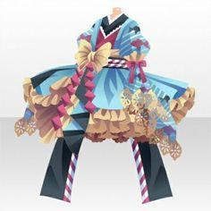 Girly Goldfish Frill Kimono Dress ver.A blue Half Up Long Hair, Braids For Long Hair, Japanese Goldfish, Daruma Doll, Cocoppa Play, Head Accessories, Dance Fashion, Kimono Dress, Memento Mori