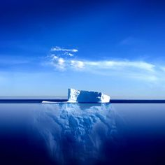 Beautiful Iceberg.....this is where they must get the saying.....that's just the tip of the iceberg when they mean, there's still a whole lot more where that came from.....yeah no kidding.