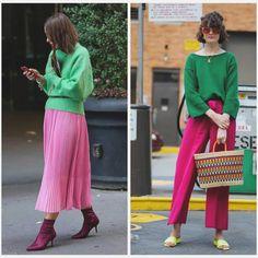 ¡1 propuesta 2 temporadas! Esta es una combinación que vamos a empezar a ver fucsia/rosa con verdes. Noten en las pics☝🏻 como la combi… Ootd, Style, Fashion, Proposal, Hot Pink, Lets Go, Seasons, Winter, Green