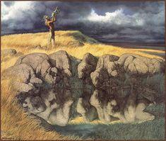 bev doolittle paintings   LRS Art Medley] Bev Doolittle, Calling the Buffalo; DISPLAY FULL ...
