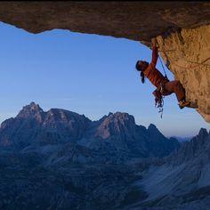 Alex Huber climbing