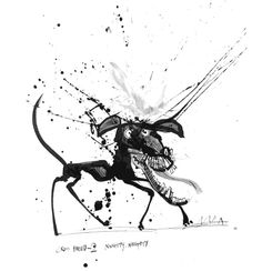 This would make a nice poster ... Legendary Cartoonist Ralph Steadman's Inkblot Dog Drawings