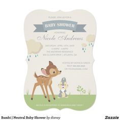 Bambi | Neutral Baby Shower Card