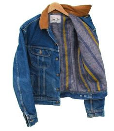Vintage LEE Storm Rider Denim Jacket Blanket Lined - L (25082) • £36.00 - PicClick UK
