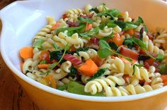 Try this delicious Dreamfields recipe. http://www.dreamfieldsfoods.com/healthy-pasta-recipes/2014/02/garden-market-pasta-salad-with-smoked-trout.html
