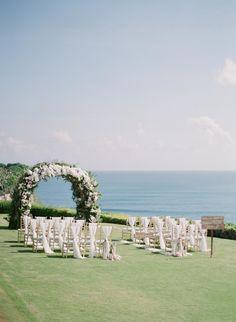 full flowers arch, wedding ceremony A Cliffside Wedding in Bali