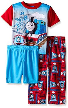 Thomas the Train Little Boys Blue Prints and Engines 3-Piece Pajama Set #FunStartsHere #Everyday www.yankeetoybox.com Pjs Jammies Kids Sleepwear