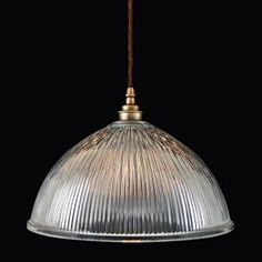 Voss Antique Brass Glass Pendant