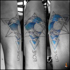 Nº98 Love and Sea #tattoo #sea #bluesea #waves #blueink #geometric #geometry #metatron #merkaba #triangles #love #dotwork #lines #love #weddinganniversary #surprise #bylazlodasilva