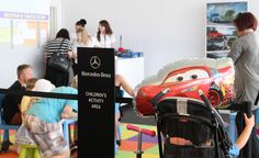 Created an interactive family area for #MercedesBenz at #GoodwoodFOS