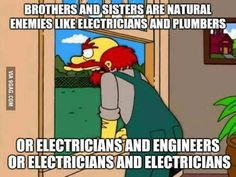 Funny Electrician Memes of 2017 on me. Electrician Humor, Commercial Electrician, Funny Images, Best Funny Pictures, Funny Pics, Construction Humor, Military Jobs, Plumbing Humor, Job Humor