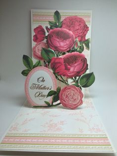 Mothers Day Card, 3D Pop- up card, Anna Griffin by TwoRedCatCrafts on Etsy