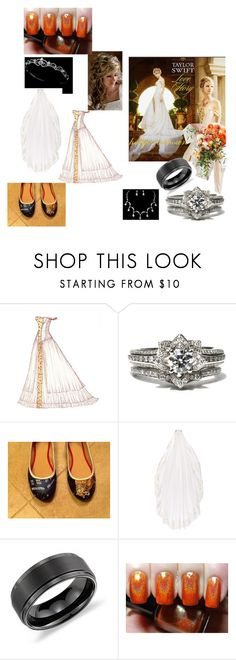 """""""Kaydence -- Wedding"""" by zayne-jinxie ❤ liked on Polyvore featuring November, Nicole Miller and Blue Nile"""