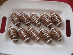 Cocoa Krispie Footballs#Repin By:Pinterest++ for iPad#