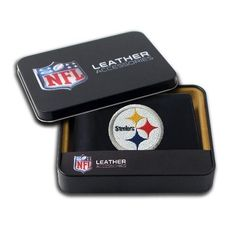 Pittsburgh Steelers Black Leather Mens Wallet by Rico. $24.99. Bill compartments of super strength nylon trimmed in leather. All team logos of rich, colorful embroidery for long lasting wear. Officially licensed by the NFL. Keep a close eye on this wallet because your friends will definitely be jealous. The Pittsburgh Steelers Embroidered Billfold Wallet features genuine leather exteriors, withgenuine leather interiorpanels and pockets with turned edges fo...