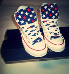 American Star Converse Shoes on Etsy, $95.00