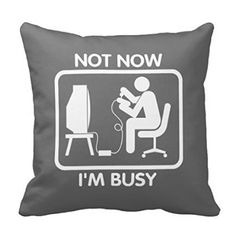 """Aidoue Gamer - Not now Im busy Pillowscase Decorate for a Sofa Pillow Cover Cushion 16"""""""