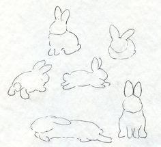 Rabbit shape drawings | How to draw a bunny