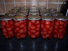 Jahodový kompót Pesto, Beans, Food And Drink, Stuffed Peppers, Canning, Vegetables, Drinks, Sweet, Flow