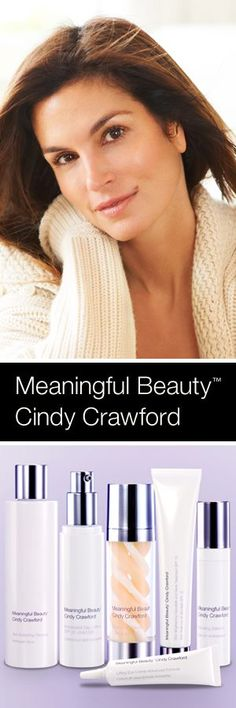 meaningful beauty #cindycrawford skin care