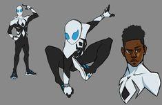 Miles Morales Spiderman, Hq Dc, Superhero Characters, Spiderman Art, Spider Verse, Marvel Art, Character Design Inspiration, Memes, Art Reference