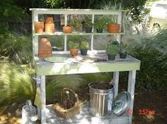 antique potting bench - Google Search