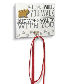 This 'Who Walks With You' Leash Hook Wall Plaque by Grasslands Road is perfect! Dog Signs, Animal Signs, Dog Stencil, Copper Wall Art, Wooden Decor, Wall Plaques, Dog Art, Dog Treats, Craft Gifts