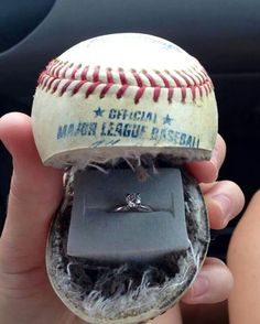 Dear future husband, please propose to me like This at a USA softball game but with a softball not baseball