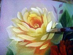 Pintando rosas passo a passo