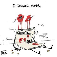 7 Janvier 2015.  Carlie Hebdo