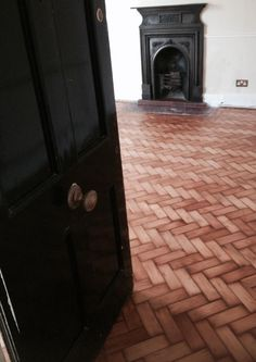 Antique Pitch Pine Herringbone Parquet Floor lovingly restored by Naked Floors in a Grade 1 Listed Building at Arundel Terrace #Brighton Circa 1828