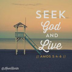 Seek Him while He can still be found.