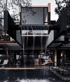 Dream House Interior, Luxury Homes Dream Houses, Dream Home Design, Modern House Design, Loft Design, Black House Exterior, Dark House, Home Building Design, Future House