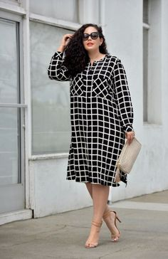 20 Ideas Fashion Plus Size Outfits Classy For 2019 #fashion Vestidos Plus Size, Plus Size Dresses, Plus Size Outfits, Plus Size Shirt Dress, Curvy Girl Fashion, Modest Fashion, Trendy Fashion, Womens Fashion, Classy Fashion