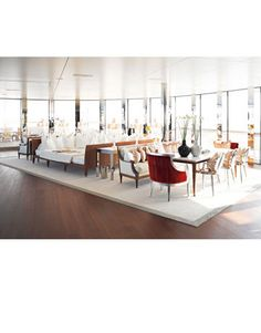 Aleksandra Melnichenko's Megayacht Photos - Photos of Aleksandra Melnichenko's Yacht - Harper's BAZAAR Yacht Interior, Luxury Interior, Yacht Vacations, Models, Best Interior Design, Architecture, Family Room, Boat, Furniture