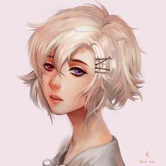Violet by ariuemi anime - females в 2019 г. Female Anime Hairstyles, Short Hairstyles, Anime Girl Short Hair, Anime Art Girl, Character Design Girl, Character Art, Short Hair Drawing, Hair Sketch, Juuzou Suzuya