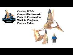 Custom LEGO Compatible Jurassic Park III Pteranodon by Extinct Bricks Work in Progress Preview Video - YouTube Lego Dino, Lego Jurassic World, Artwork For Home, Dinosaur Art, Custom Lego, Lego Stuff, Extinct, Bricks, Legos