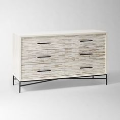 Wood Tiled 6-Drawer Dresser #westelm