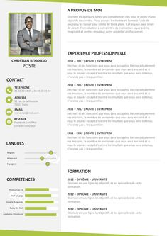 Exemple de CV Valorisant gratuit à télécharger