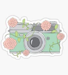 Floral Camera Sticker