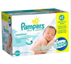 Pampers, Natural Clean Baby Wipes, Clinically Proven Mild, (864 Count) New!!!