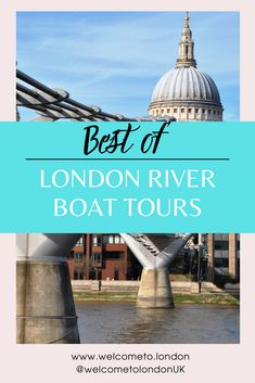 Why not take a tour of the river and see Big Ben in person. This post is full of the best of Londons river boat tours. Thames Barrier, Visit England, Famous Bridges, London Attractions, Down The River, London Tours, Weekend Breaks, River Thames, London Photography