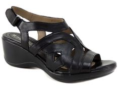 Naturalizer Women's Tossle Platform Wedge Sandals Black Size Size 9.5 (B, M) #Naturalizer #Slingbacks #Casual
