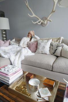 rustic + chic + living room