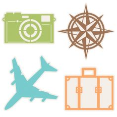 Travel Icons Set SVG scrapbook cut file cute clipart files for silhouette cricut pazzles free svgs free svg cuts cute cut files