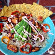 """I am certainly making this dish happen!                        """"Chipotle"""" Chicken & Rice Bowl"""