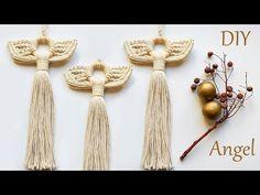 Christmas Angel Crafts, Christmas Craft Fair, Christmas Ornaments, Crochet Craft Fair, Pin Weaving, Diy Angels, Ornament Tutorial, Macrame Design, Macrame Tutorial