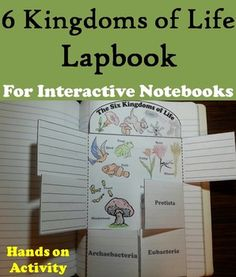 This lapbook on the Six Kingdoms of Life is a fun hands on activity for students to use in their interactive notebooks. Students may research different facts about each kingdom and write what they find on the provided blank lines.