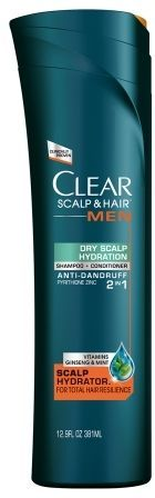 clear Scalp and Hair Men Shampoo and Conditioner Dry Scalp Hydration