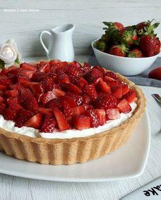 Crostata con panna yogurt e fragole | Cucinare è come amare